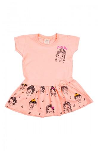 Babykleid aus Gekämmte Baumwolle ZS11201-04 Lachs 11201-04