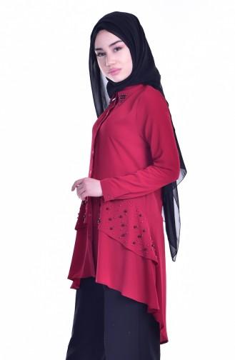 Claret red Tunic 3124-04