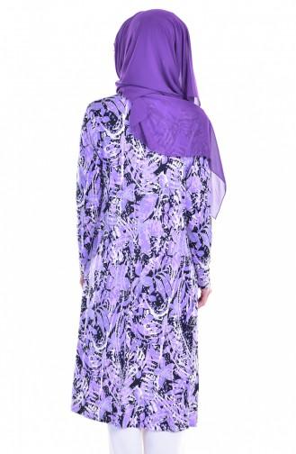 Jacket Tunic Double Suit 1617838-01 Lilac Light Beige 1617838-01