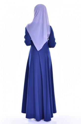 Tie Collar Dress 8115-02 Indigo 8115-02