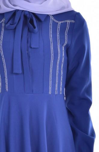 فستان بتصميم مزين بتفاصيل مميزة  8115-02