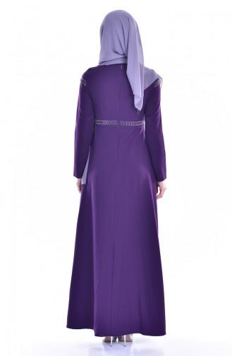 Robe İmprimé de Pierre 8111-07 Pourpre 8111-07