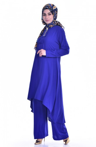 Tunic Trousers 2 Piece Team 9005-12 Saxe Blue 9005-12