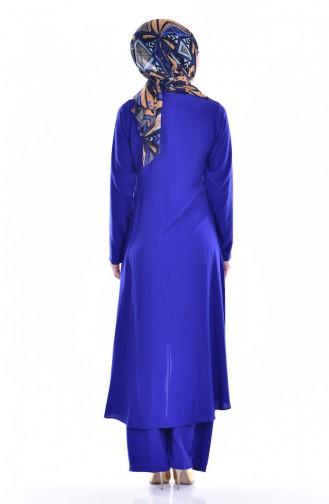Ensemble Deux Pieces Tunique Pantalon 9005-12 Bleu Roi 9005-12