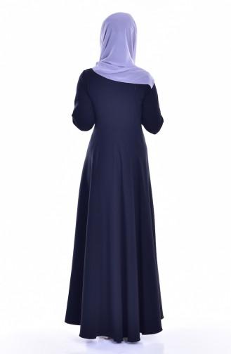Tie Collar Dress 8115-06 Black 8115-06