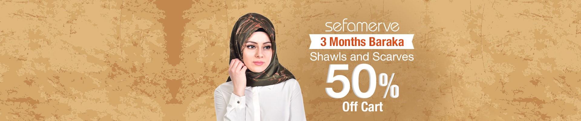 3 Months Baraka Shawls and Scarves 50% Off Cart