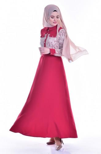 Claret red Dress 1613109-02