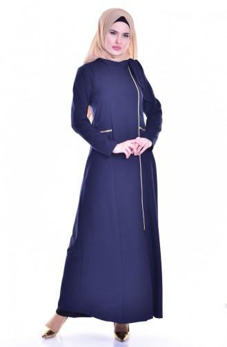 Navy Blue Abaya 2124-10