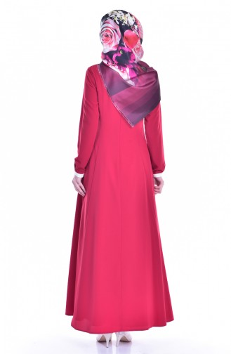 Kleid mit Brosche 1613127-03 Rot 1613127-03