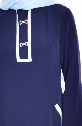 فستان بتصميم مزين ببروش 1613127-01