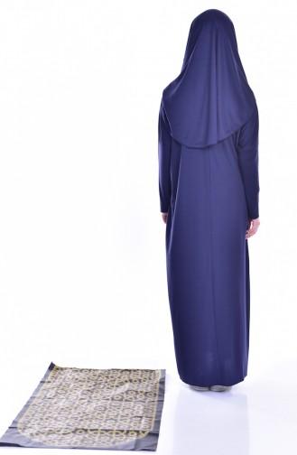 فستان أزرق كحلي 8000-04