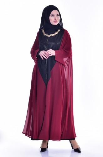 Claret red İslamitische Jurk 1613948-01