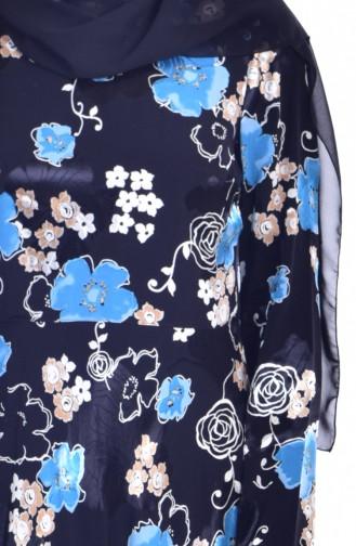 Robe a Motifs Fleurs 1713372B-01 Noir 1713372B-01