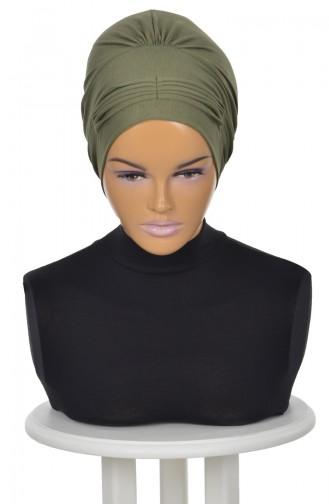 Bonnet Peigné-Vert Khaki B0019-13 0019-13