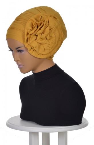 Bonnet avec Rose-Moutarde B0021-11 0021-11