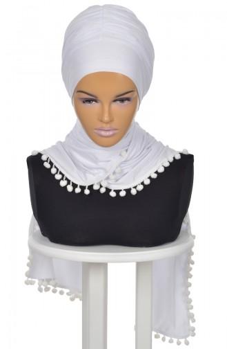 White Ready to wear Turban 0002-12