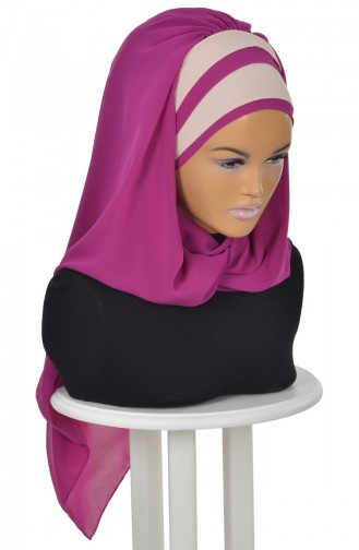 Fuchsia Ready to wear Turban 0083-1-5