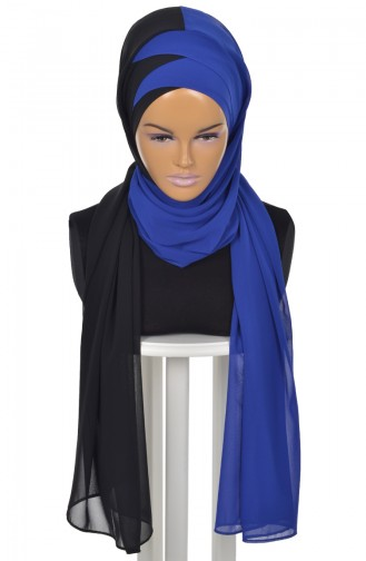 Saxon blue Ready to wear Turban 0084-14-16