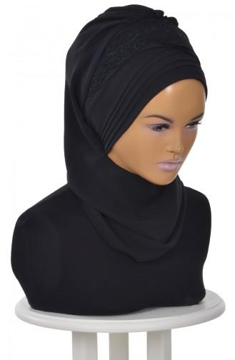 Black Ready to wear Turban 0053-14