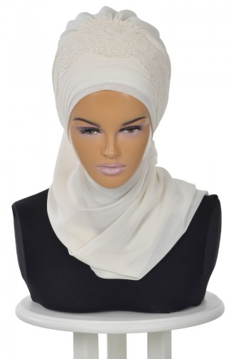 Cream Ready to wear Turban 0053-22