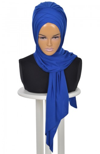 Practical Cotton Shawl Saxon Blue PS0041-4 0041-4