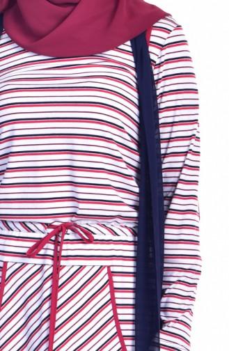 Elbise Yelek ikili Takım 1613120-01 Lacivert Kırmızı