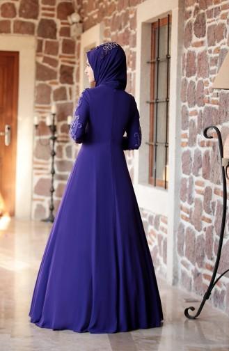 Purple İslamitische Avondjurk 0121-01