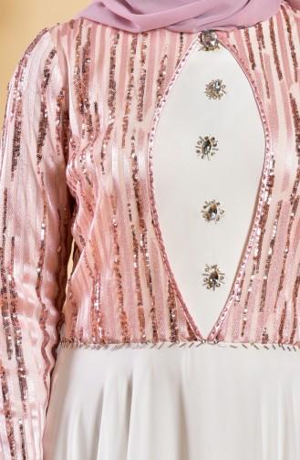 White Islamic Clothing Evening Dress 1713173-04