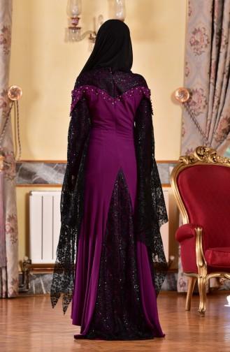 Robe de Soirée avec Pierre 1713197-03 Pourpre 1713197-03