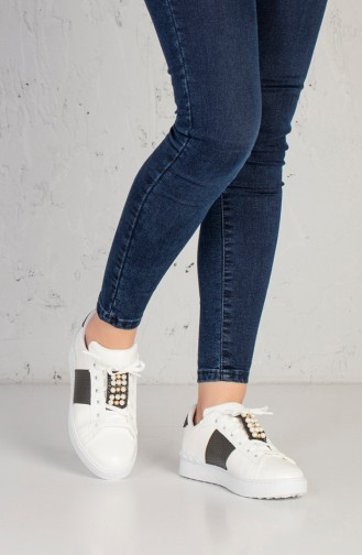 White Sport Shoes 5020-01