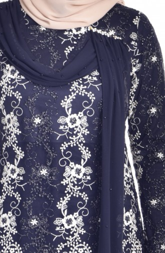 Robe de Soirée a Dentelle 1713254-01 Noir 1713254-01
