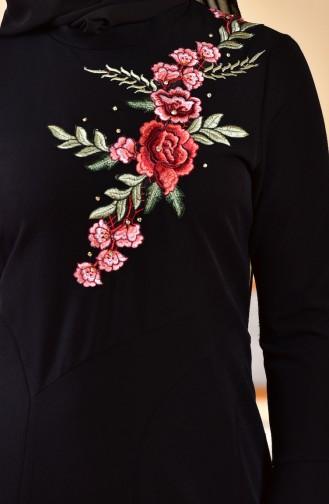 Abendkleid mit Stickerei 1713328-01 Schwarz 1713328-01