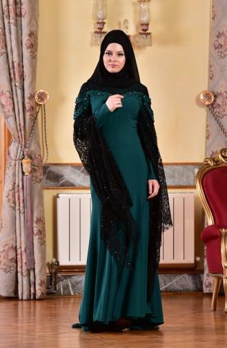 Robe de Soirée avec Pierre 1713197-01 vert emeraude 1713197-01