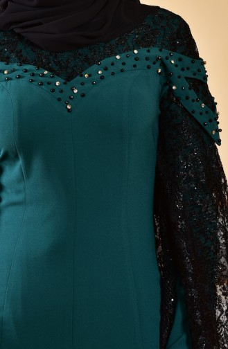 Emerald Islamic Clothing Evening Dress 1713197-01
