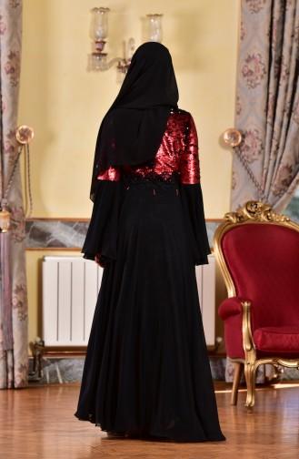 Claret red İslamitische Avondjurk 1713219-01