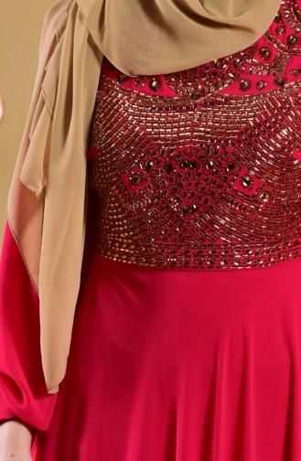 Bedrucktes Abendkleid 1713188-01 Fuchsia 1713188-01