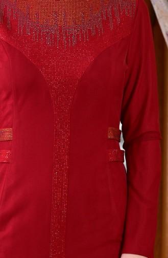 Bedrucktes Abendkleid 1613953-01 Rot 1613953-01
