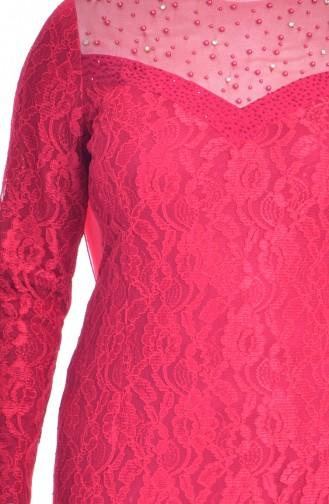 فستان بتصميم بتفاصيل مرصعة ومن الؤلؤ  1713185-03