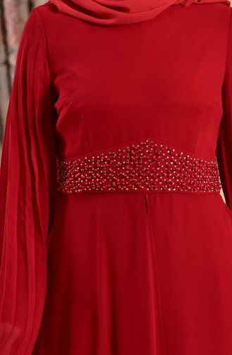 Red Islamic Clothing Evening Dress 1713217-01