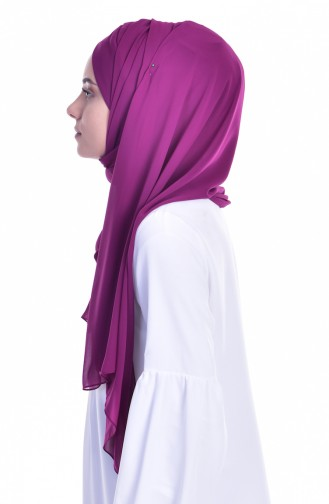 Dark Fuchsia Ready to wear Turban 0017-15