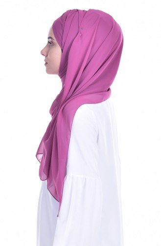 Dark Dusty Rose Ready to wear Turban 0017-02