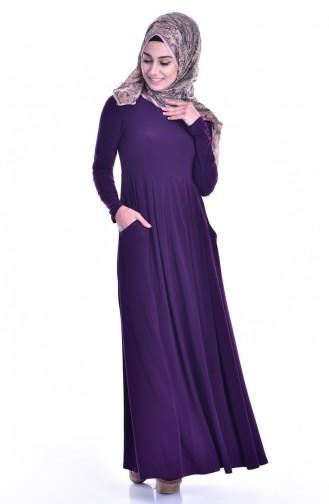 Robe avec Poches 18131-03 Pourpre 18131-03