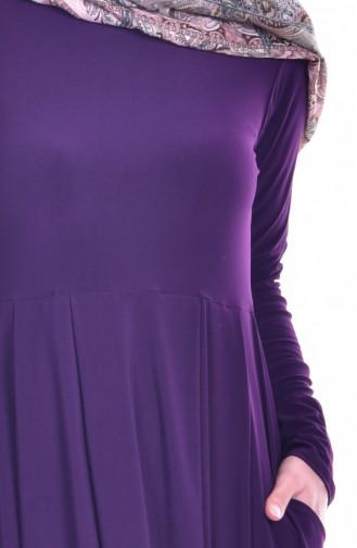 Purple İslamitische Jurk 18131-03