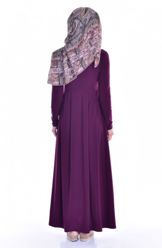 Kleid mit Tasche 18131-04 Zwetschge 18131-04
