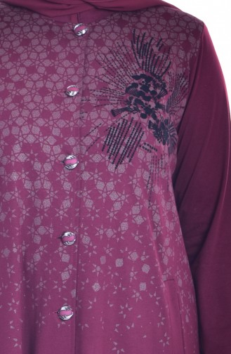 METEX Patterned Buttoned Topcoat 1010-04 Claret Red 1010-04