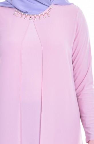 Robe de Soirée avec Collier 0947-02 Poudre 0947-02