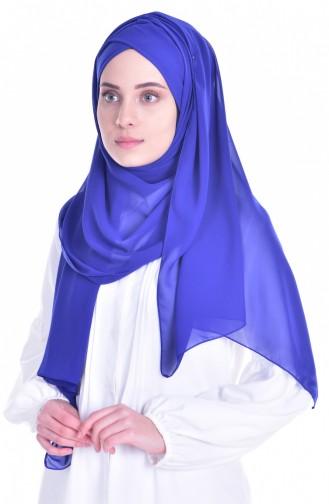 Châle Bonnet Croisé 0017-03 Bleu Roi 0017-03