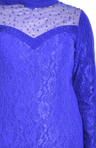 فستان بتصميم بتفاصيل مرصعة ومن الؤلؤ  1713185-02