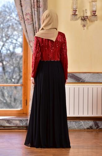 Red İslamitische Avondjurk 1713173-01