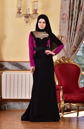Black Islamic Clothing Evening Dress 1713223-02